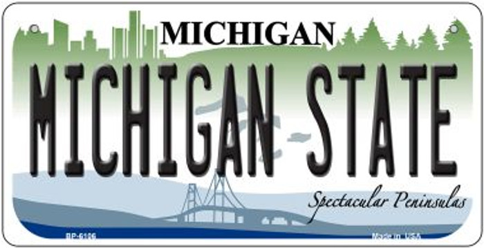 Michigan State University Wholesale Novelty Metal Bicycle Plate BP-6106