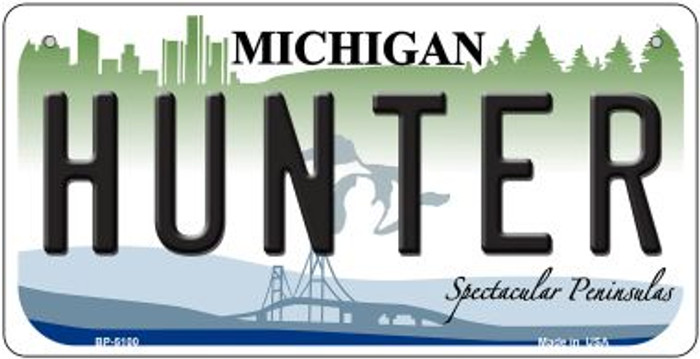 Hunter Michigan Wholesale Novelty Metal Bicycle Plate BP-5100