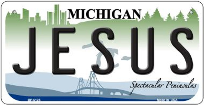Jesus Michigan Wholesale Novelty Metal Bicycle Plate BP-6125
