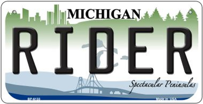 Rider Michigan Wholesale Novelty Metal Bicycle Plate BP-6133