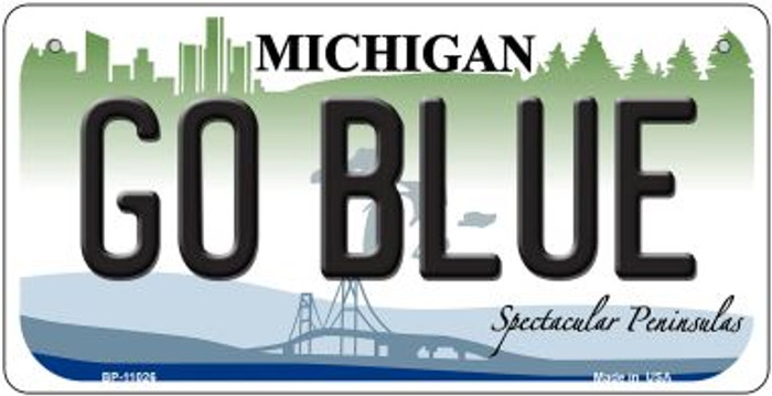 Go Blue Michigan Wholesale Novelty Metal Bicycle Plate BP-11026
