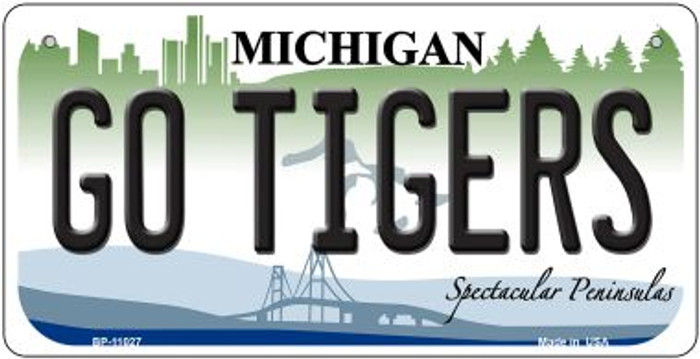 Go Tigers Michigan Wholesale Novelty Metal Bicycle Plate BP-11027