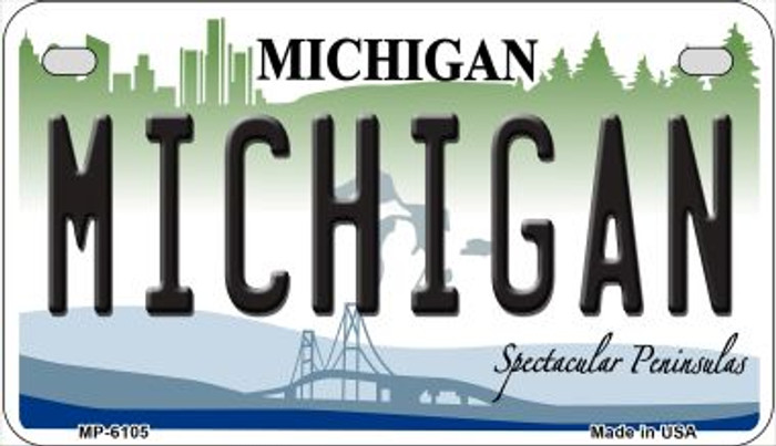 Michigan Wholesale Novelty Metal Motorcycle Plate MP-6105