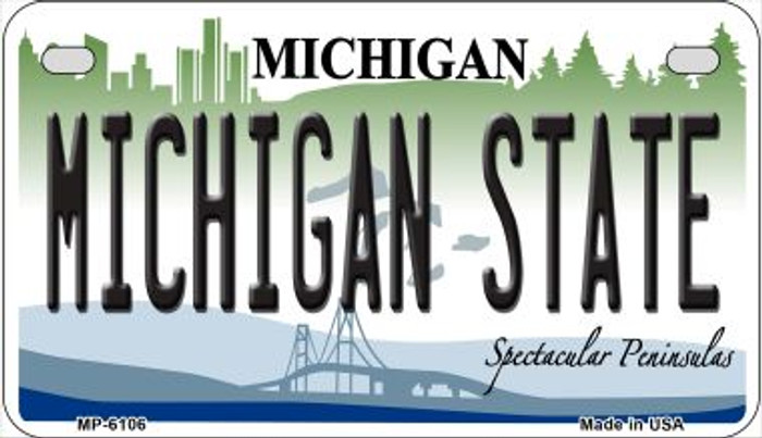 Michigan State University Wholesale Novelty Metal Motorcycle Plate MP-6106