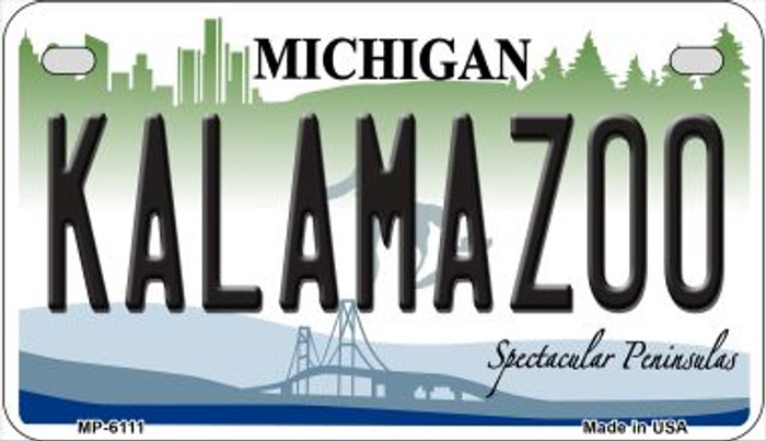 Kalamazoo Michigan Wholesale Novelty Metal Motorcycle Plate MP-6111