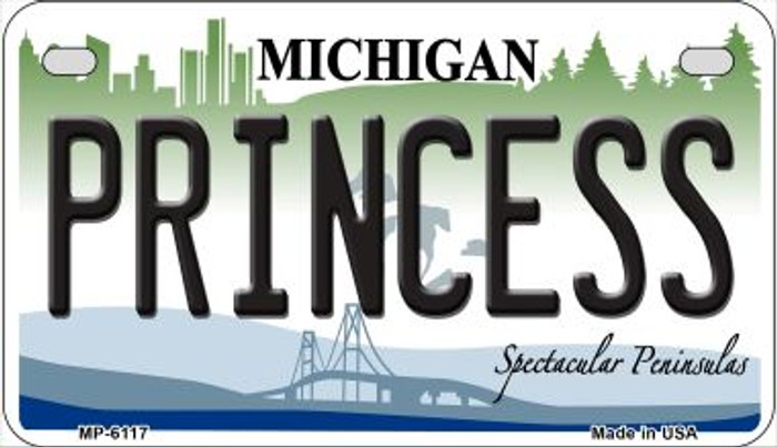 Princess Michigan Wholesale Novelty Metal Motorcycle Plate MP-6117
