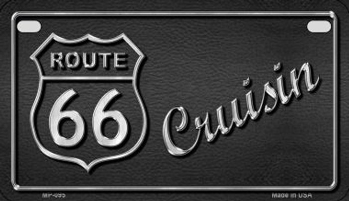 Route 66 Cruisin Wholesale Metal Novelty Motorcycle License Plate