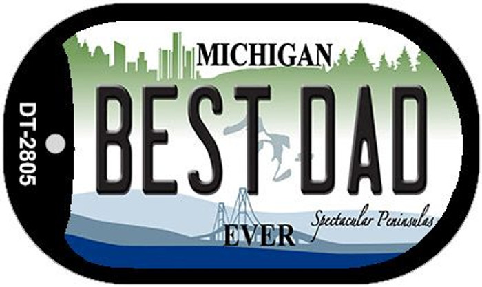 Best Dad Michigan Wholesale Novelty Metal Dog Tag Necklace DT-2805