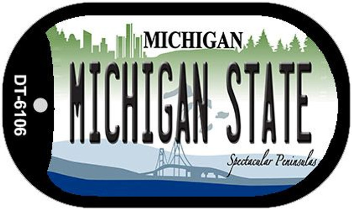 Michigan State University Wholesale Novelty Metal Dog Tag Necklace DT-6106
