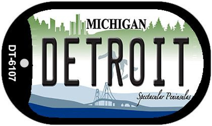 Detroit Michigan Wholesale Novelty Metal Dog Tag Necklace DT-6107