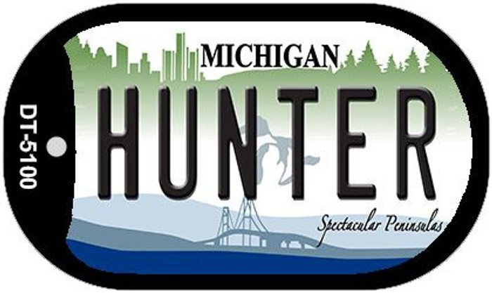 Hunter Michigan Wholesale Novelty Metal Dog Tag Necklace DT-5100