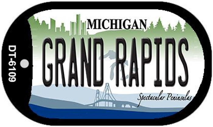Grand Rapids Michigan Wholesale Novelty Metal Dog Tag Necklace DT-6109