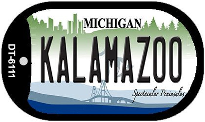 Kalamazoo Michigan Wholesale Novelty Metal Dog Tag Necklace DT-6111