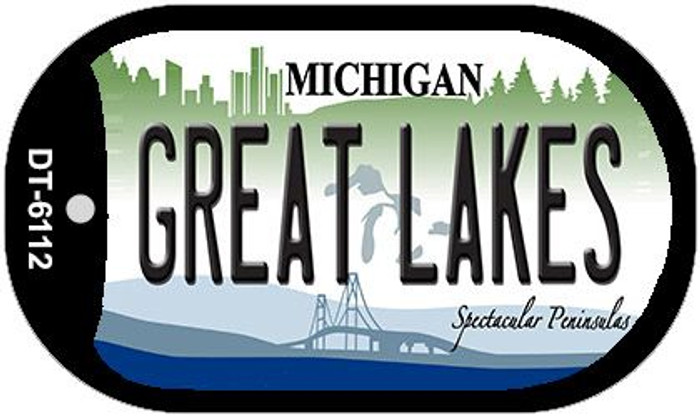 Great Lakes Michigan Wholesale Novelty Metal Dog Tag Necklace DT-6112
