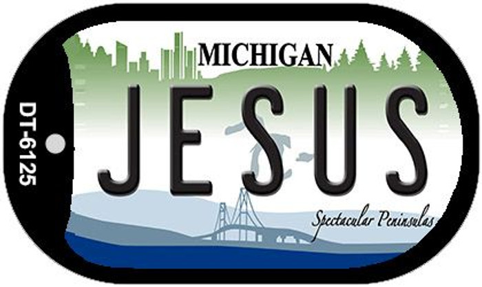 Jesus Michigan Wholesale Novelty Metal Dog Tag Necklace DT-6125