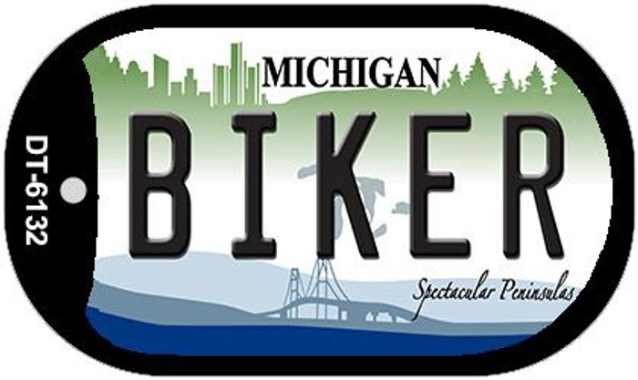 Biker Michigan Wholesale Novelty Metal Dog Tag Necklace DT-6132