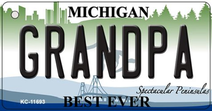 Grandpa Michigan Wholesale Novelty Metal Key Chain KC-11693