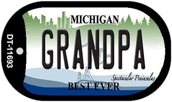 Grandpa Michigan Wholesale Novelty Metal Dog Tag Necklace DT-11693