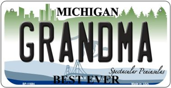 Grandma Michigan Wholesale Novelty Metal Bicycle Plate BP-11694