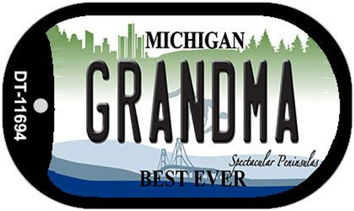 Grandma Michigan Wholesale Novelty Metal Dog Tag Necklace DT-11694