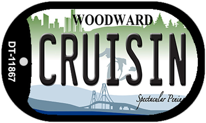 Cruisin Michigan Wholesale Novelty Metal Dog Tag Necklace DT-11867