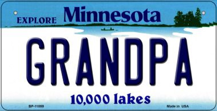 Grandpa Minnesota Wholesale Novelty Metal Bicycle Plate BP-11059