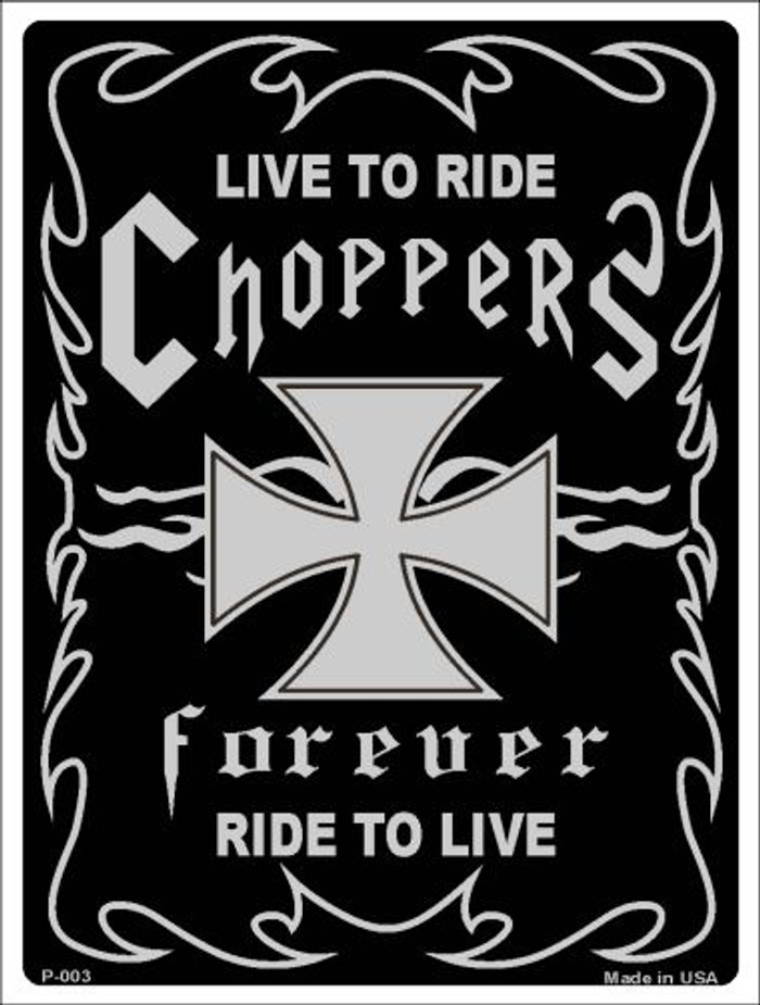 Live To Ride Wholesale Metal Novelty Parking Sign