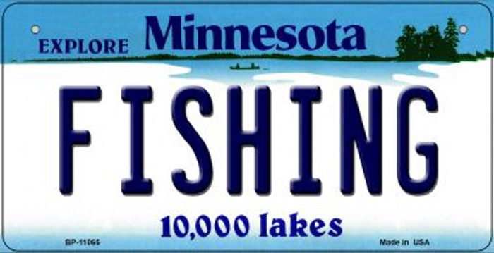 Fishing Minnesota Wholesale Novelty Metal Bicycle Plate BP-11065