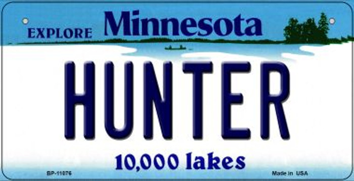 Hunter Minnesota Wholesale Novelty Metal Bicycle Plate BP-11076