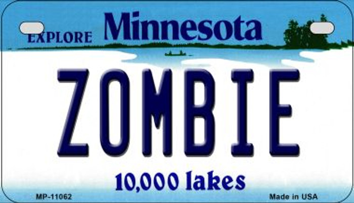 Zombie Minnesota Wholesale Novelty Metal Motorcycle Plate MP-11062