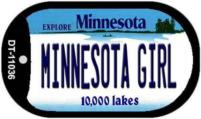 Minnesota Girl Wholesale Novelty Metal Dog Tag Necklace DT-11036
