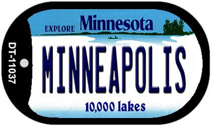 Minneapolis Minnesota Wholesale Novelty Metal Dog Tag Necklace DT-11037