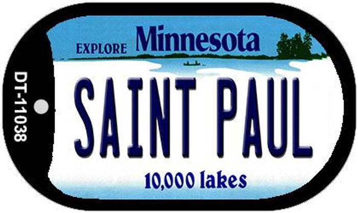 Saint Paul Minnesota Wholesale Novelty Metal Dog Tag Necklace DT-11038