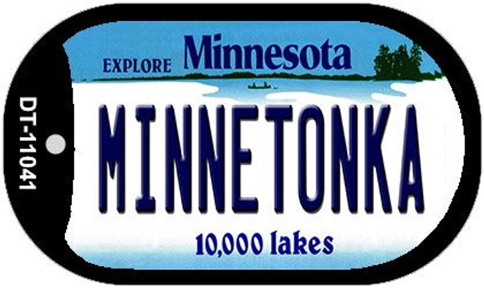 Minnetonka Minnesota Wholesale Novelty Metal Dog Tag Necklace DT-11041