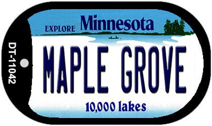 Maple Grove Minnesota Wholesale Novelty Metal Dog Tag Necklace DT-11042