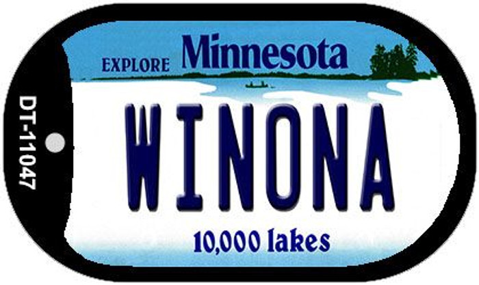 Winona Minnesota Wholesale Novelty Metal Dog Tag Necklace DT-11047