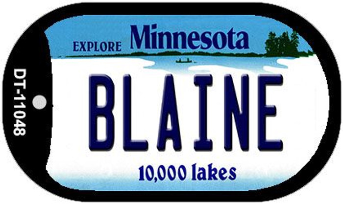 Blaine Minnesota Wholesale Novelty Metal Dog Tag Necklace DT-11048