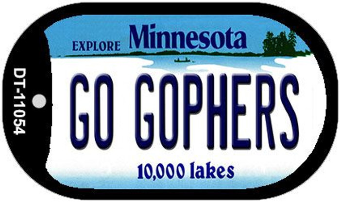 Go Gophers Minnesota Wholesale Novelty Metal Dog Tag Necklace DT-11054