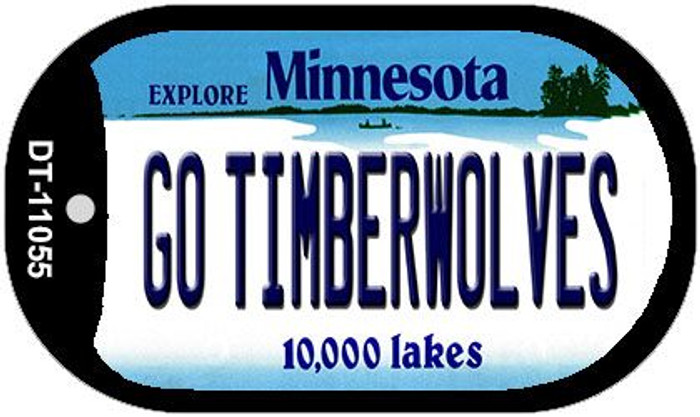 Go Timberwolves Minnesota Wholesale Novelty Metal Dog Tag Necklace DT-11055