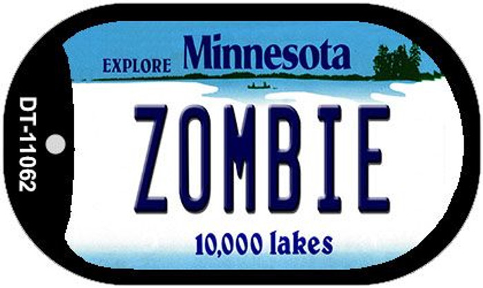 Zombie Minnesota Wholesale Novelty Metal Dog Tag Necklace DT-11062