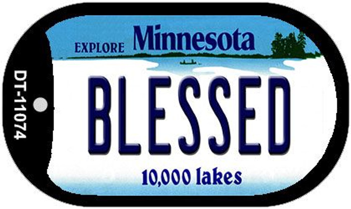Blessed Minnesota Wholesale Novelty Metal Dog Tag Necklace DT-11074