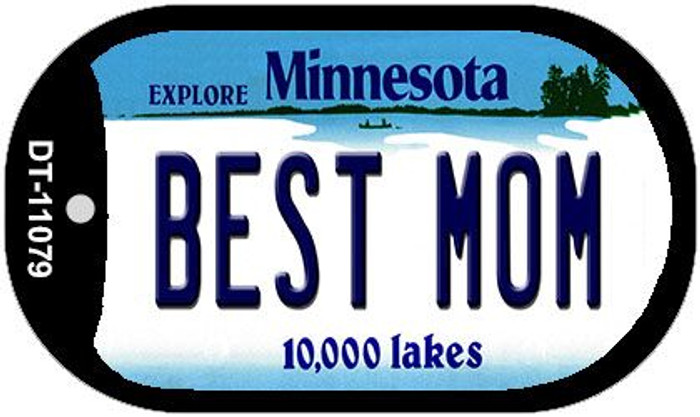 Best Mom Minnesota Wholesale Novelty Metal Dog Tag Necklace DT-11079