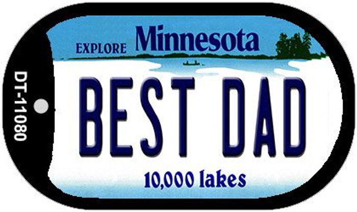 Best Dad Minnesota Wholesale Novelty Metal Dog Tag Necklace DT-11080