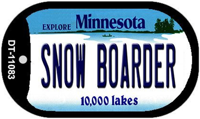 Snow Boarder Minnesota Wholesale Novelty Metal Dog Tag Necklace DT-11083
