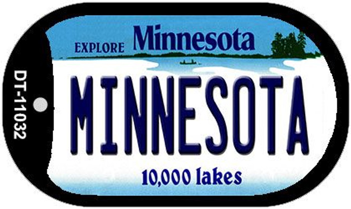 Minnesota Wholesale Novelty Metal Dog Tag Necklace DT-11032