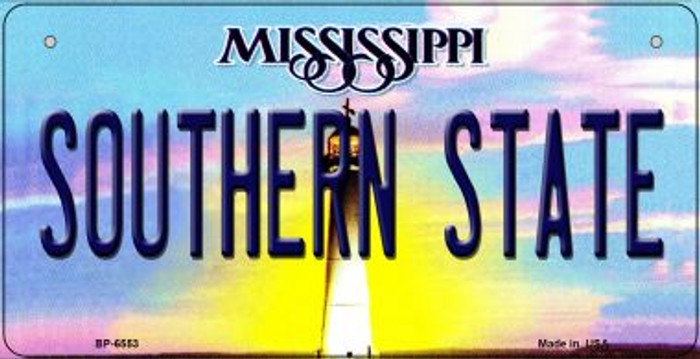 Southern State Mississippi Wholesale Novelty Metal Bicycle Plate BP-6553