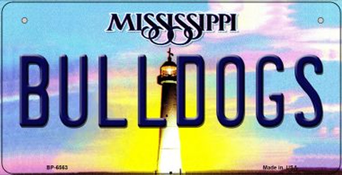 Bulldogs Mississippi Wholesale Novelty Metal Bicycle Plate BP-6563