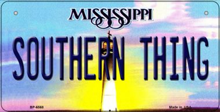 Southern Thing Mississippi Wholesale Novelty Metal Bicycle Plate BP-6568