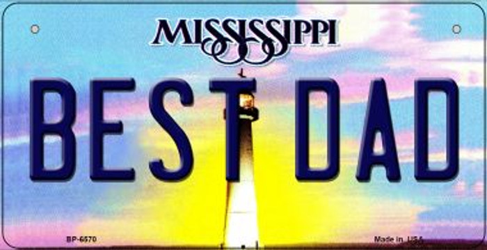 Best Dad Mississippi Wholesale Novelty Metal Bicycle Plate BP-6570