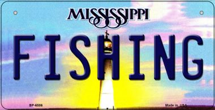 Fishing Mississippi Wholesale Novelty Metal Bicycle Plate BP-6586